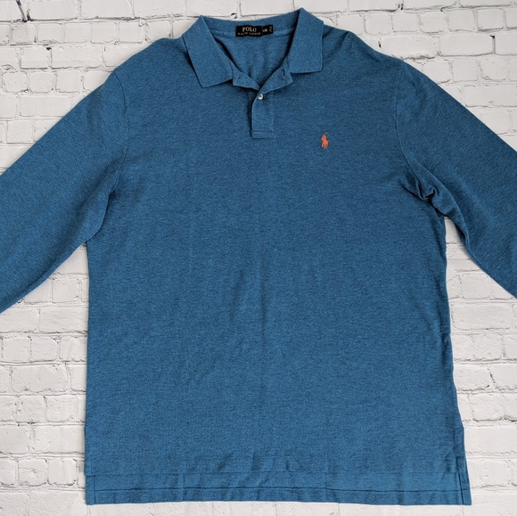 Polo by Ralph Lauren Other - Ralph Lauren Blue Long Sleeve Knit Polo